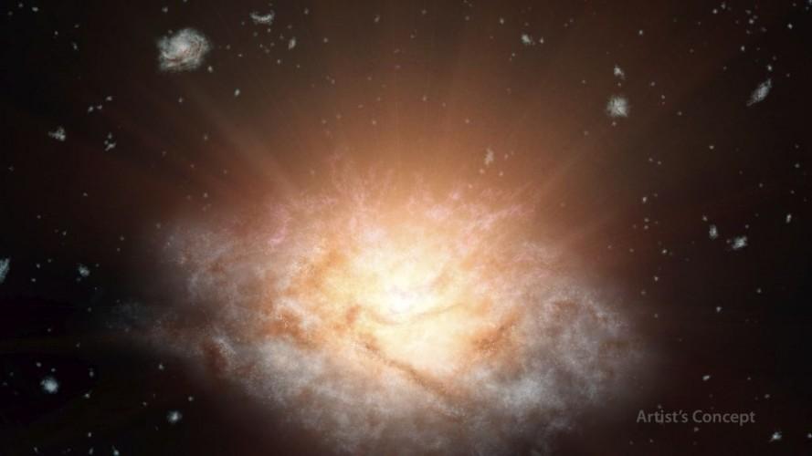WISE odkrywa najbardziej świecącą galaktykę we Wszechświecie
