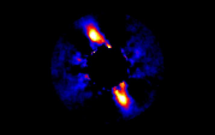 Młody układ słoneczny wokół pobliskiej gwiazdy
