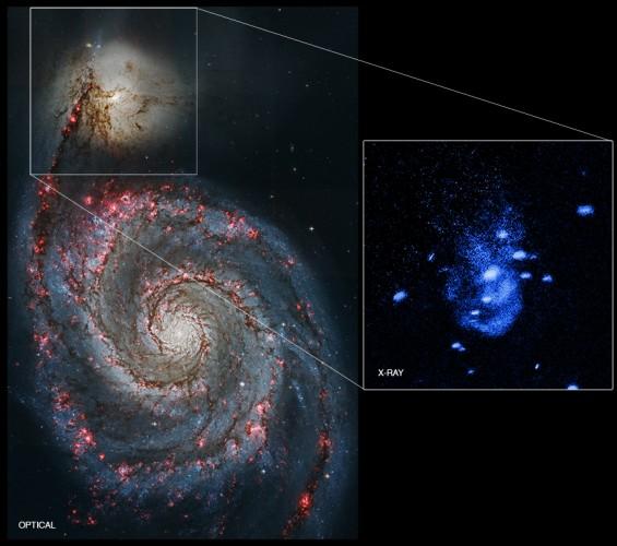 """Kosmiczna """"czkawka"""" pobliskiej czarnej dziury"""