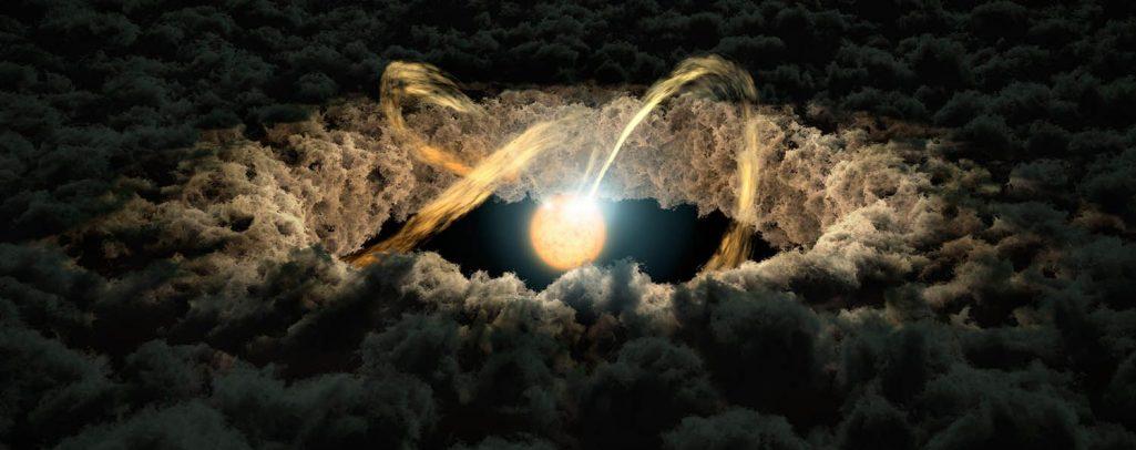 Świetlne echa dają wskazówki dotyczące dysków protoplanetarnych