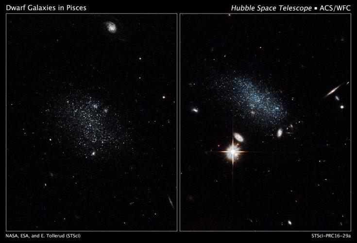Hubble odkrywa parę galaktyk pochodzącą z kosmicznego pustkowia