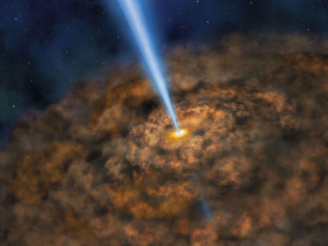 SOFIA odkrywa chłodny pył wokół energetycznie aktywnej czarnej dziury