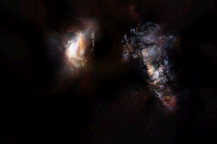 Odkryto masywne pierwotne galaktyki pływające w rozległym oceanie ciemnej materii