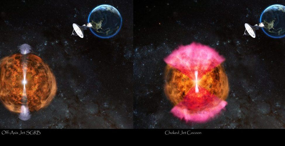 Obserwacje radiowe wskazują na prawdopodobne wyjaśnienie zjawiska łączenia się gwiazd neutronowych