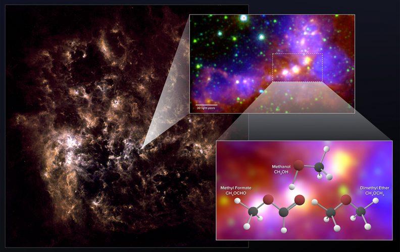 Zaskakująco złożone cząstki organiczne w Wielkim Obłoku Magellana