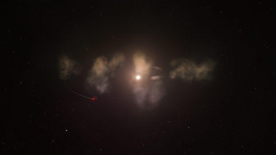 Mrugająca gwiazda może pochłaniać zniszczone planety