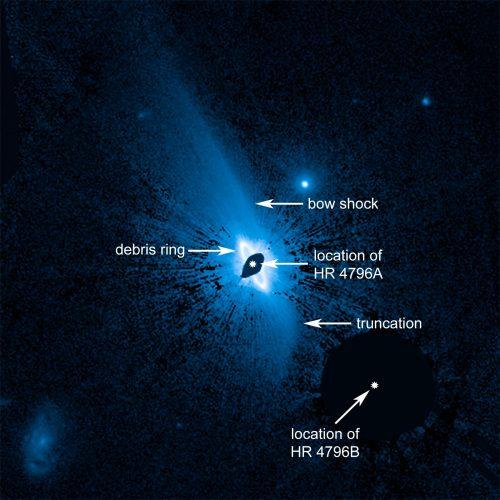 Ogromny obłok pyłu otaczający młodą gwiazdę HR 4796A