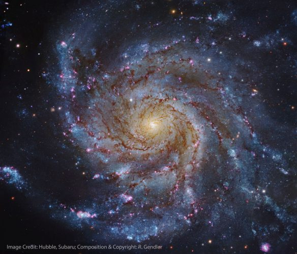 Astronomowie odkryli, że galaktyki rotują jak w zegarku