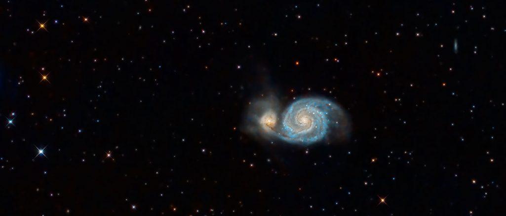 Ogromna zjonizowana chmura wodoru w galaktyce Wir