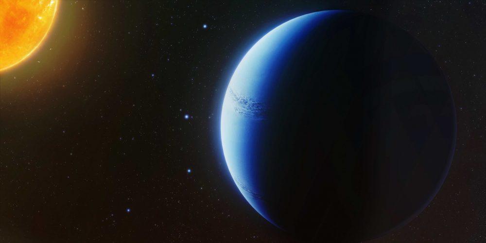 Bezchmurne niebo planety pozasłonecznej