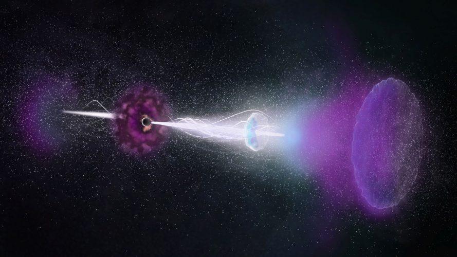 ALMA obserwuje długotrwałe echo radiowe zasilane przez dżety z GRB
