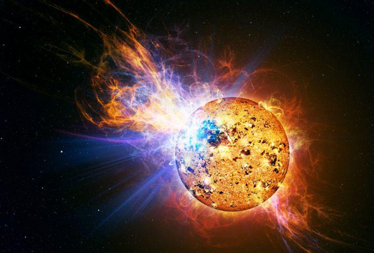 Rozbłyski młodych gwiazd mogą tworzyć cegiełki planet