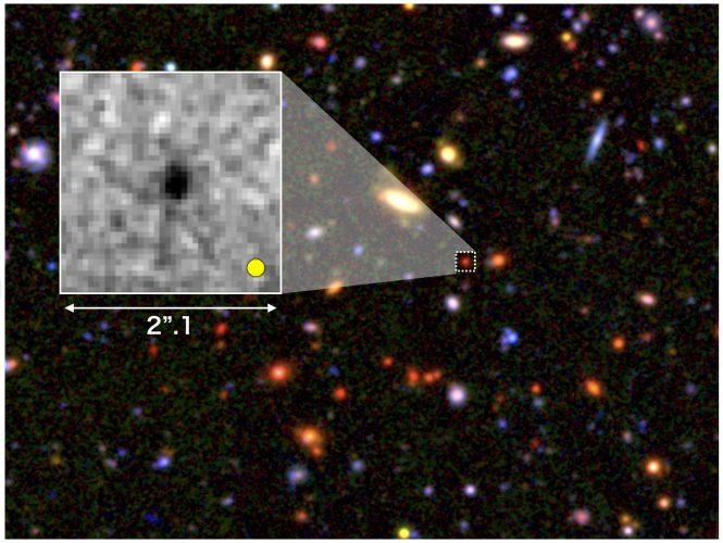 Ziarna olbrzymich galaktyk powstałe we wczesnym Wszechświecie