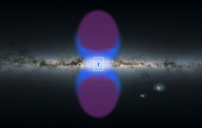 """Odkryto dwa potężne """"kominy"""" odprowadzające promieniowanie X z jądra Drogi Mlecznej"""