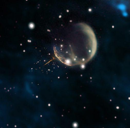 Pulsar otrzymał potężne kopnięcie od wybuchu supernowej