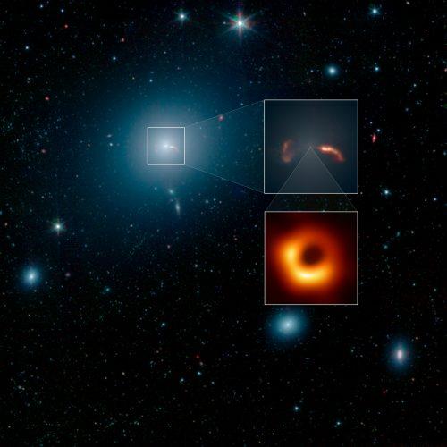 Gigantyczna galaktyka wokół olbrzymiej czarnej dziury