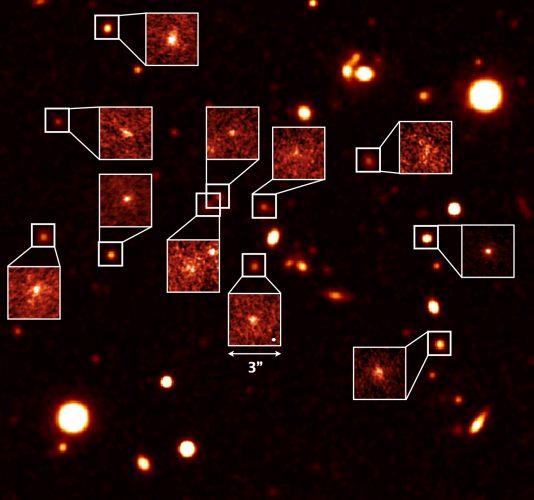 Formowanie się gwiazd w młodych galaktykach, na które środowisko nie ma wpływu