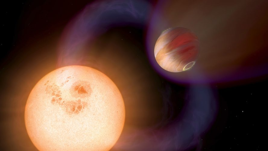 Pierwsze obliczenia aktywności magnetycznej egzoplanet typu gorące Jowisze