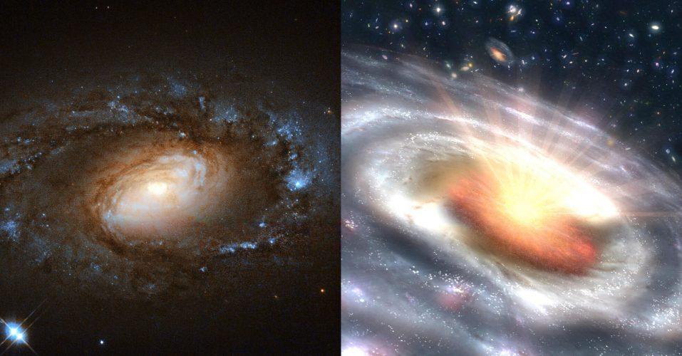 Badania ujawniły sześć galaktyk przechodzących nagłe, dramatyczne transformacje