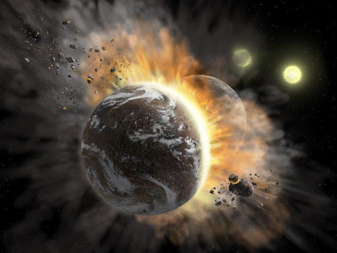 Gdy egzoplanety się zderzają