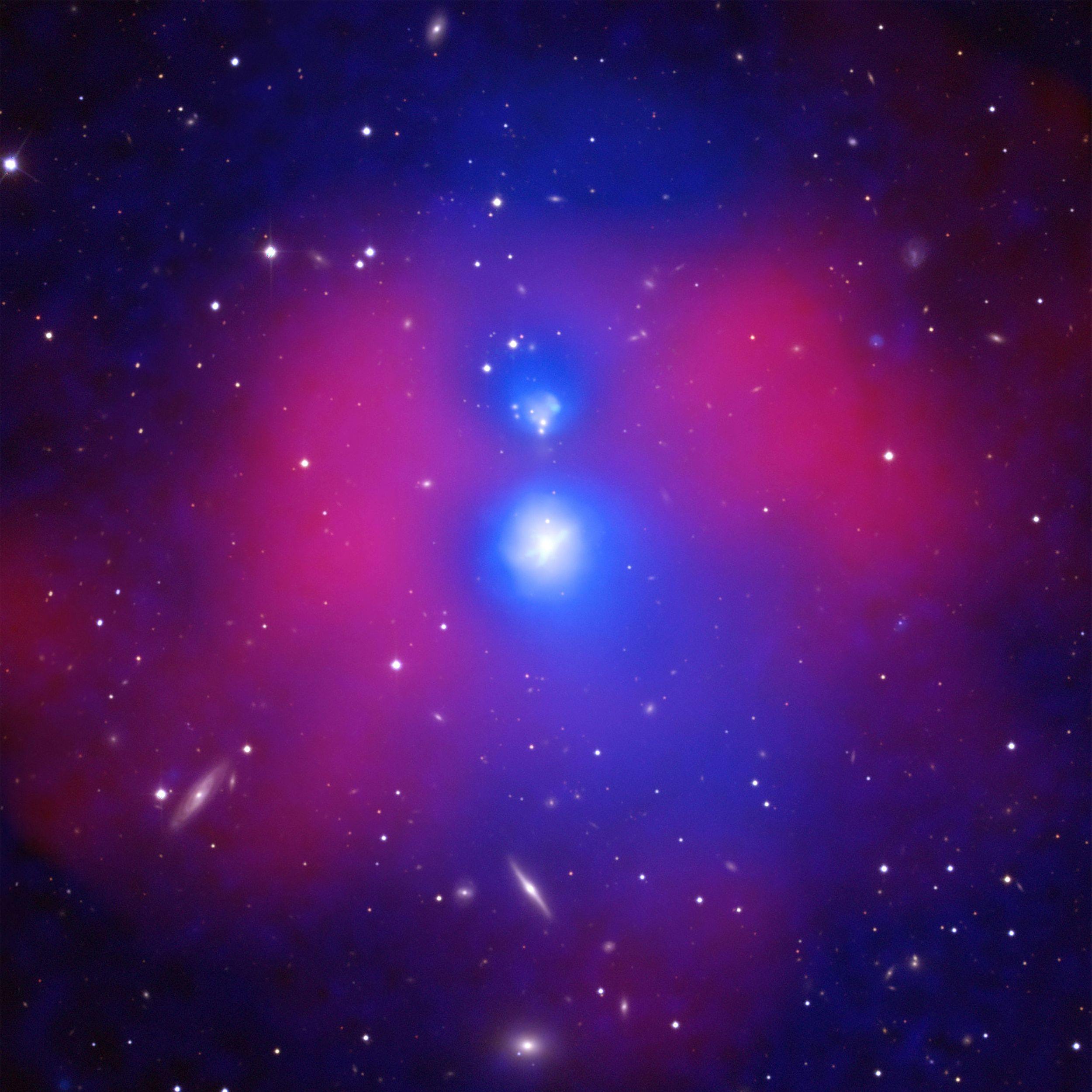Zbiorowisko galaktyk dostarcza ciepła