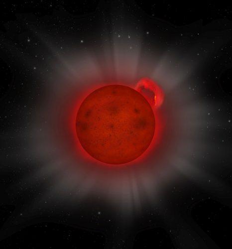 XMM-Newton ujawnia olbrzymi rozbłysk niewielkiej gwiazdy
