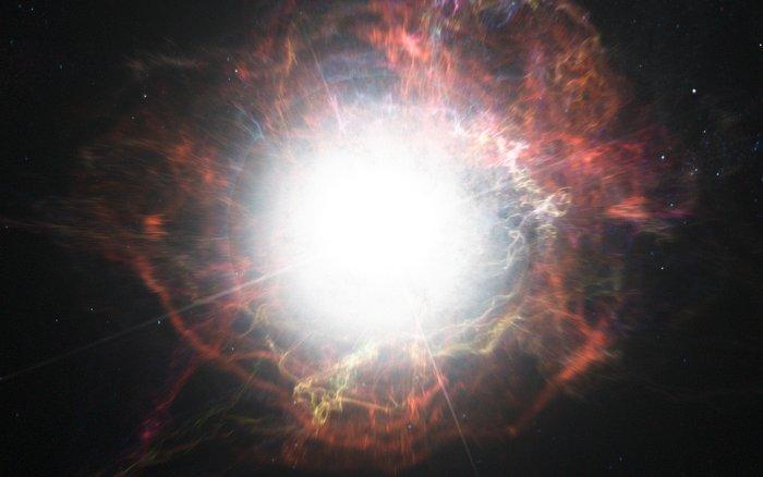 Tchnienia umierającej masywnej gwiazdy