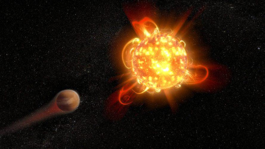 Niedawno odkryte planety przy GJ 887 nie są bezpieczne przed jej rozbłyskami