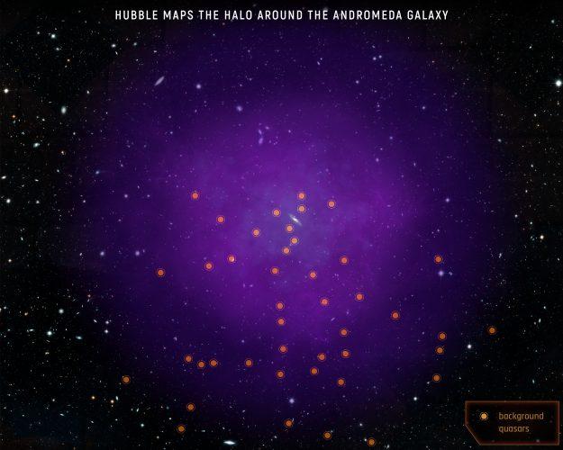 Hubble mapuje olbrzymie halo wokół galaktyki Andromedy