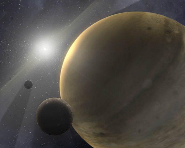 Astronomowie dokonali pomiaru ogromnej planety czającej się z dala od swojej gwiazdy