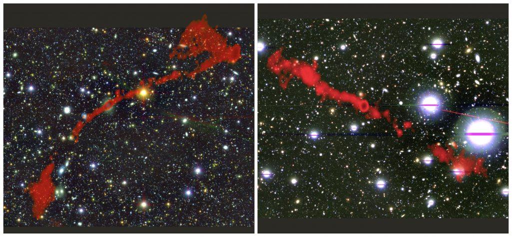 Odkryto dwie olbrzymie radiogalaktyki