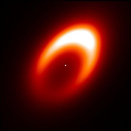 Wir wokół przypuszczalnie tworzącej się egzoplanety