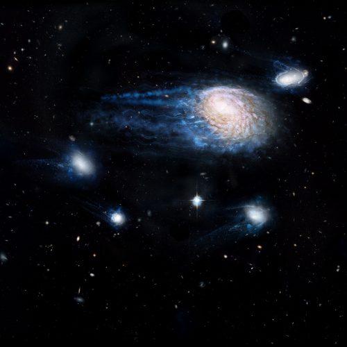 Duże galaktyki kradną gwiazdotwórczy gaz od swoich mniejszych sąsiadów