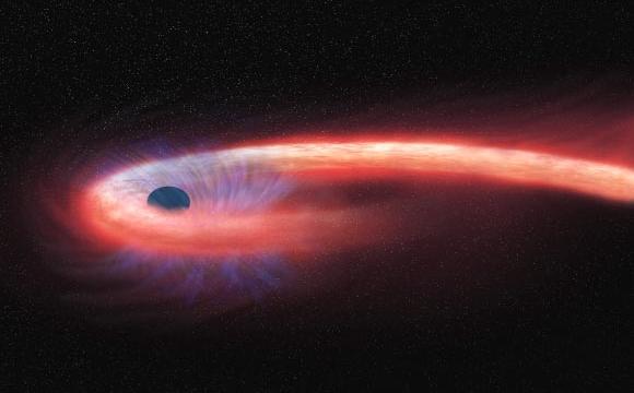 Pierwsze ślady gwiazdy rozrywanej przez potężną grawitację czarnej dziury