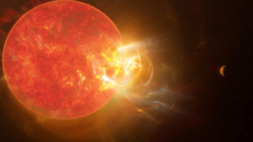 Po raz pierwszy zarejestrowano rozbłysk pobliskiej gwiazdy na wielu długościach fal