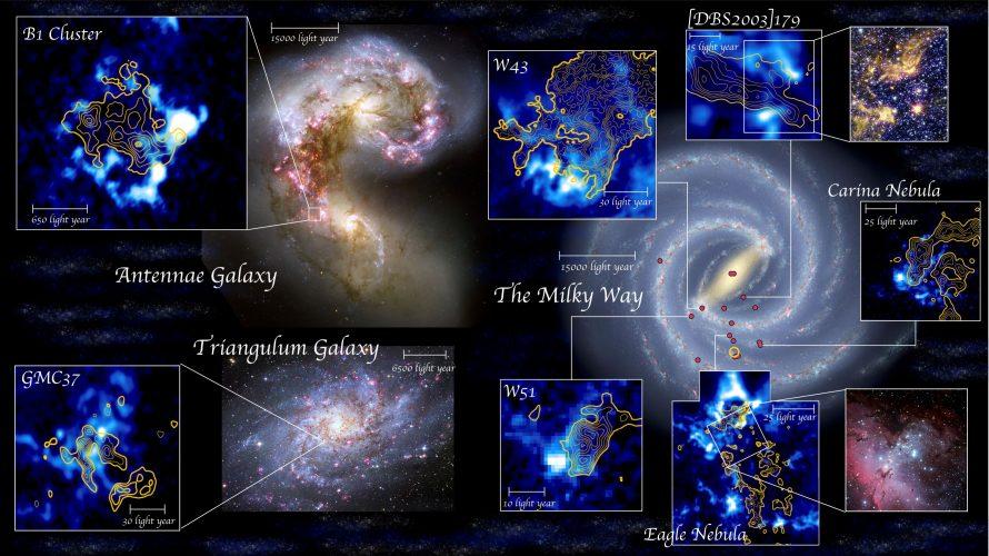 Zderzenia obłoków molekularnych powodują formowanie się gromad gwiazd
