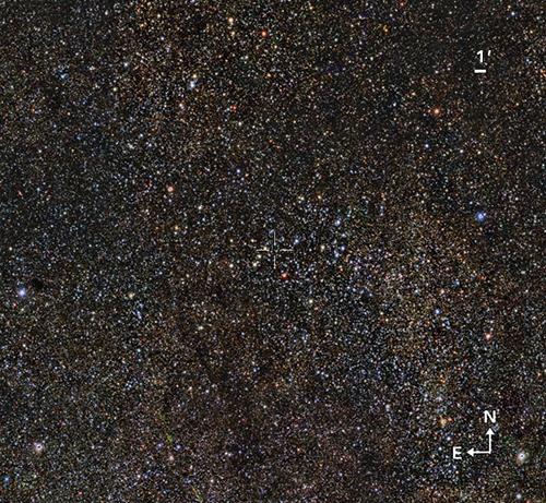 W gwiazdozbiorze Tarczy odkryto masywną gromadę gwiazd w średnim wieku