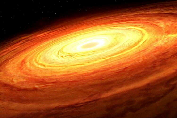 Ujawniono rozmiar czarnej dziury na podstawie jej wzoru akrecji