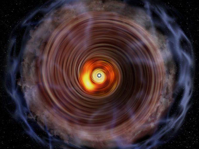 Co dzieje się w pobliżu młodej protogwiazdy