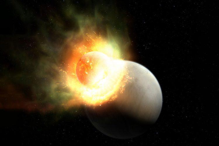 Astronomowie wykrywają ślady atmosfery usuniętej z planety w wyniku olbrzymiego zderzenia