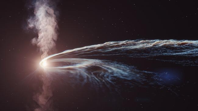 Czy czarna dziura pochłaniająca gwiazdę wygenerowała neutrino?